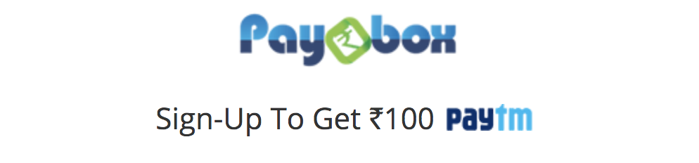 pay-box signup and get 100rs