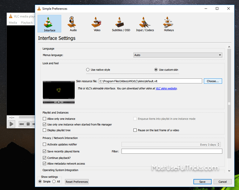 Using Skins On VLC Media Player