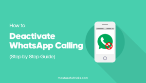 How to Deactivate WhatsApp Calling