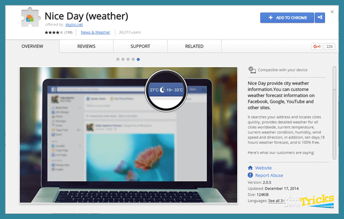 Chrome Weather Extension