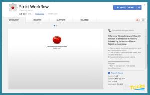 StrictWorkflow Chrome