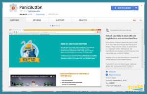 panic button chrome extension