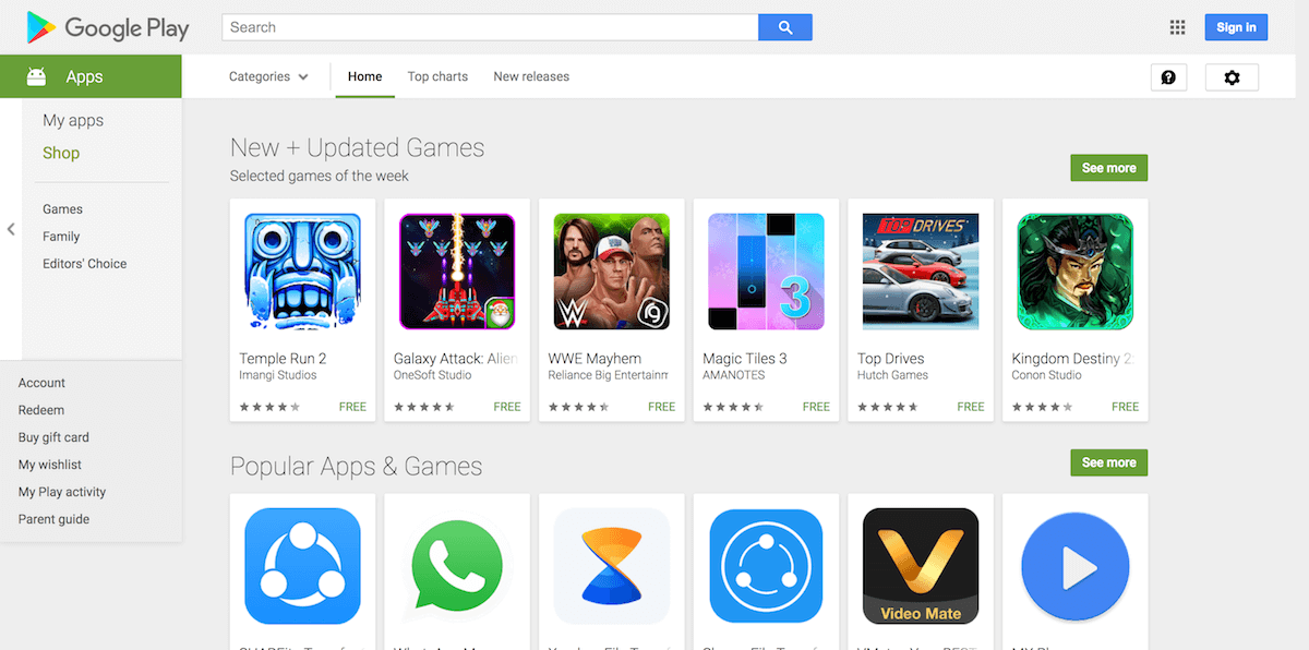 Google Play Store 2018