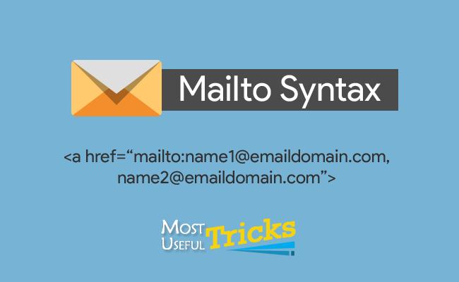 Mailto Syntax Examples