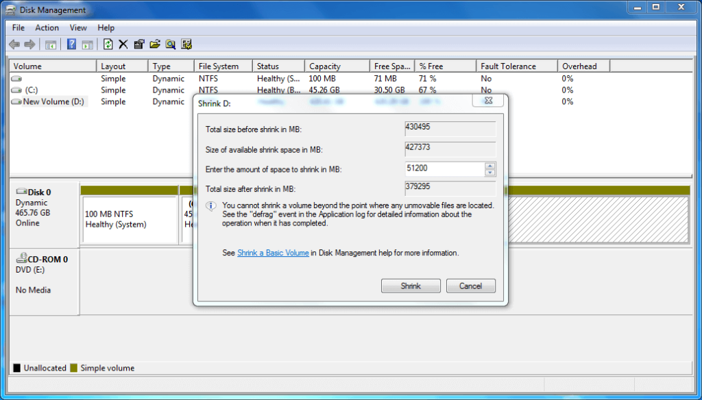 Create Disk Partition on Windows Step (3)