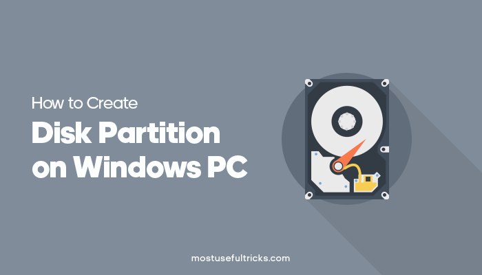Create Disk Partition on Windows