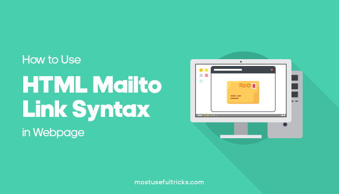 se HTML Mailto Link Syntax in Webpage