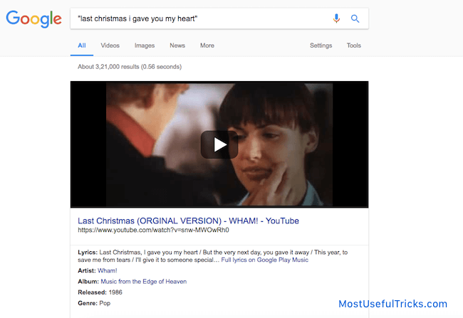 Google The Lyrics