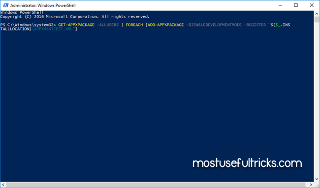 windows 10 powershell administrator