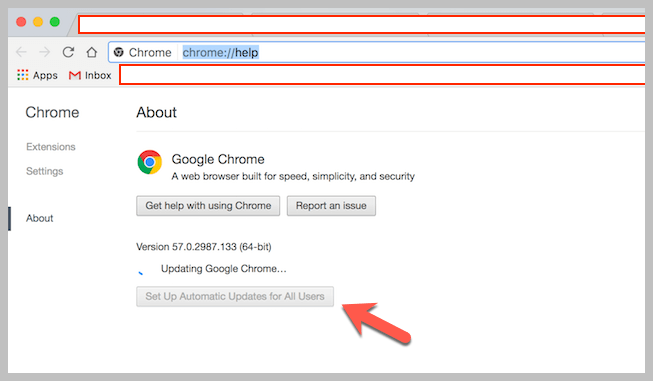 Wait for Chrome to Update