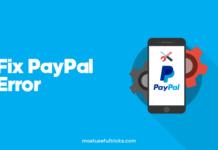 Fix PayPal Error