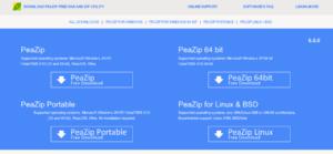 PeaZip Screenshot