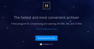Zip archiver 4 Screenshot