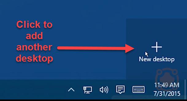 Windows 10 New Desktop