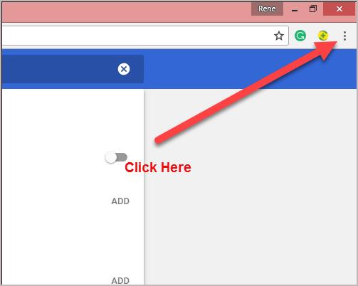 Chrome 3 Dots Settings
