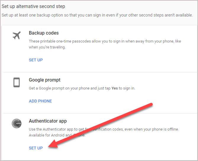 Authenticator App Setup