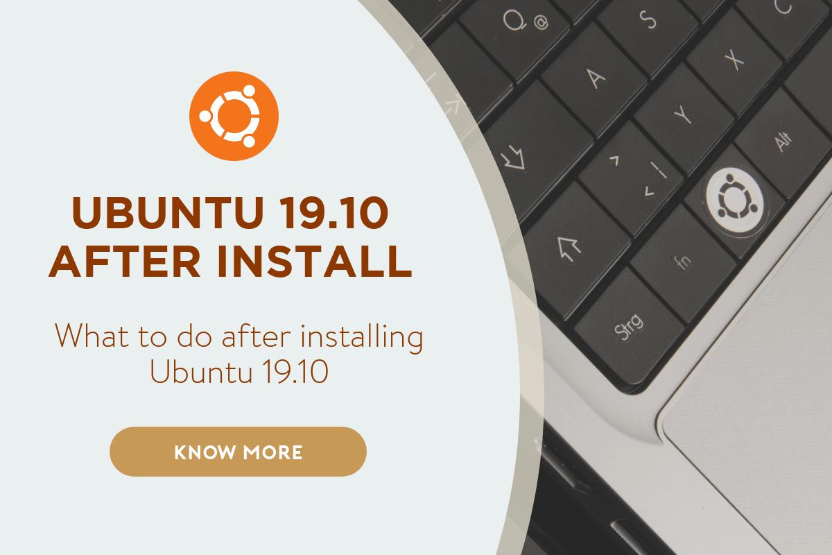 ubuntu 19.10 after install