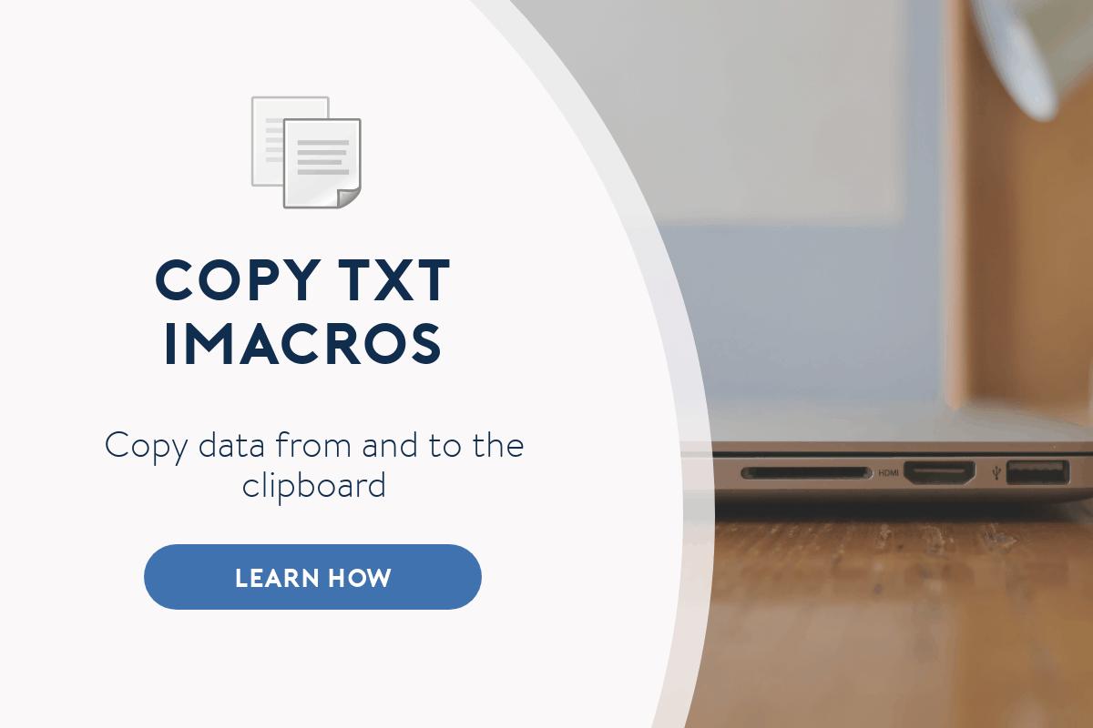 copy txt imacros